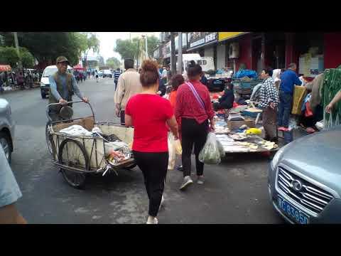 Mudanjiang China morning market