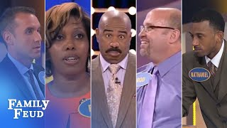 ALL-TIME GREATEST MOMENTS in Family Feud history!!! | Part 1 | The Top 5 CRAZIEST answers EVER!!!