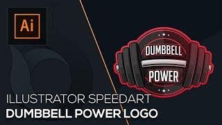 Dumbbell Power Logo | Illustrator Speedart | German | Wildfire Graphics