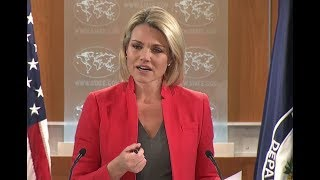 MUST WATCH: US State Department URGENT Briefing with Heather Nauert 1-4-18