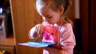 Обучение 3х летнего ребёнка рисованию - уроки рисования
