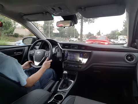 Driving Stick Shift In Heavy Traffic 2017 Toyota Corolla Manual