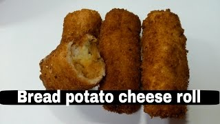 Bread Potato Cheese roll  Easy 3 step cooking  snacks recipe  recipes
