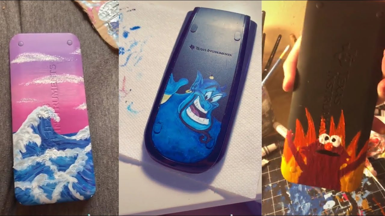 People Painting On Calculators For 5 Minutes Straight Almondmilk Youtube