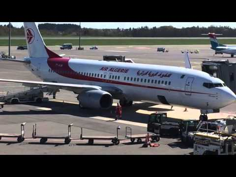 Air Algerie Luxembourg airport arrivée Boeing 737