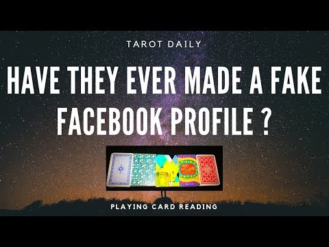 """PLAYING CARD READING """"HAVE THEY EVER MADE A FAKE FACEBOOK PROFILE AND TALK TO YOU?"""""""