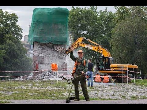 Вандалы разрушили памятник чекистам в Киеве