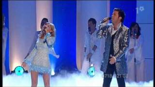 pernilla wahlgren and jan johansen let your spirit fly at melodifestivalen  2003