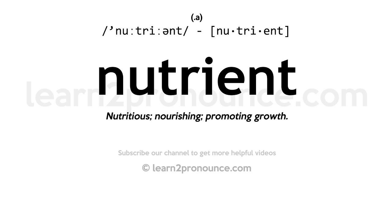 Pronunciation of Nutrient  Definition of Nutrient