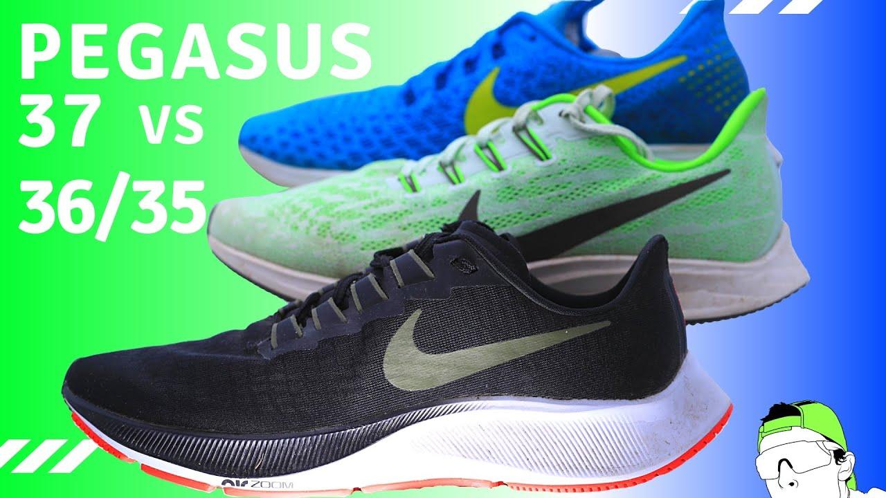 Nike Pegasus 37 Full Review + Pegasus 36 & 35 Running Shoe Comparison