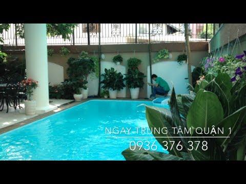 Biệt thự cho thuê quận 1, hồ bơi, sân vườn cao cấp 4000USD