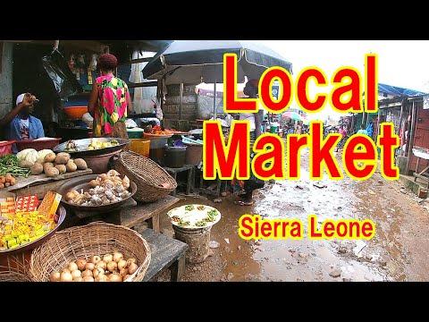 Sierra Leone market, Oggo farm local market virtual tour 2020
