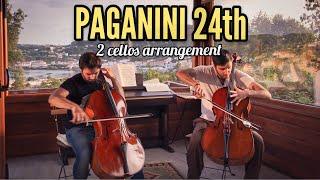 Paganini 24 caprice on 2 cellos!! Ferrández & Soltani ´s  Short version .