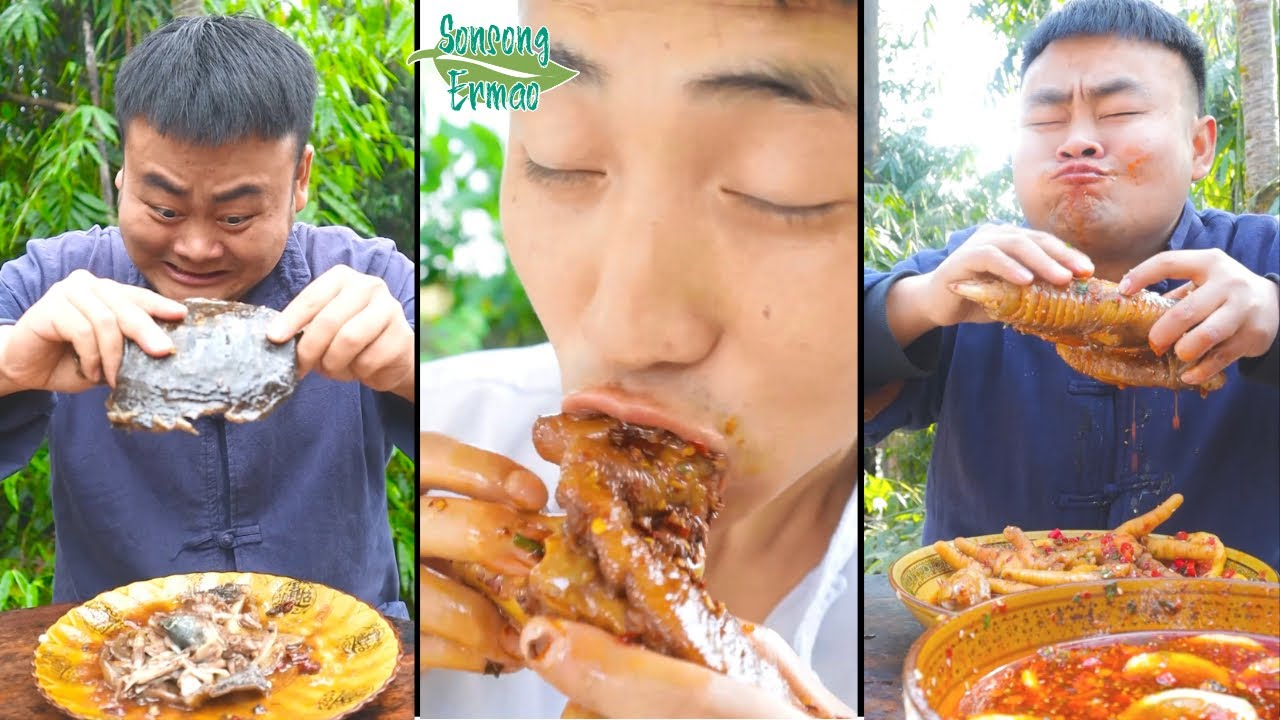 When the poor invite you to dinner + More Funny Videos    TikTok Funny Mukbang    Songsong and Ermao
