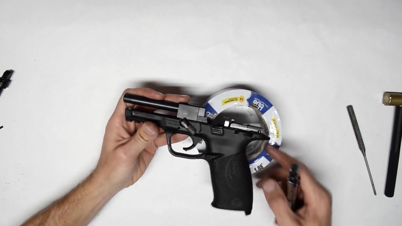 s w m p22 frame dissassembly remove thumb safety or magazine disconnect youtube [ 1280 x 720 Pixel ]
