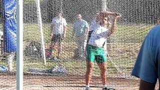 Quentin BIGOT : record de france junior du marteau (6 kg) 82.84m