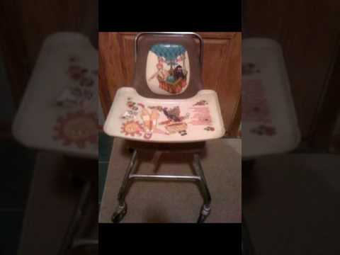Vintage baby highchairs