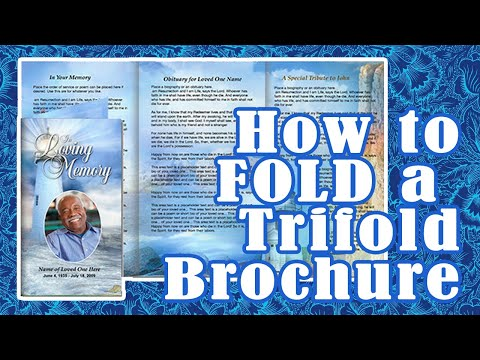 How to Fold a Tri Fold Brochure Program - YouTube
