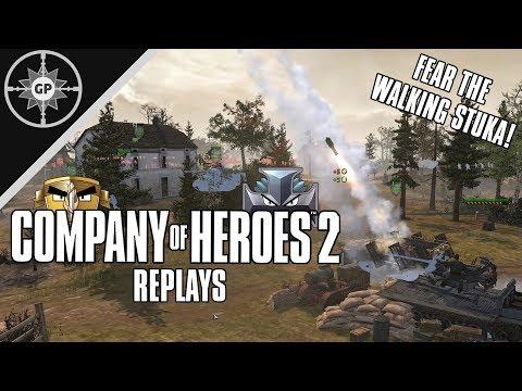 FEAR THE WALKING STUKA! - Company Of Heroes 2 Replays #50