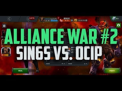 Alliance War #2 - [SIN6] vs. [OCIP] - Platinum 3 - Marvel Contest of Champions