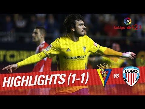 Resumen de Cádiz CF vs CD Lugo (1-1)