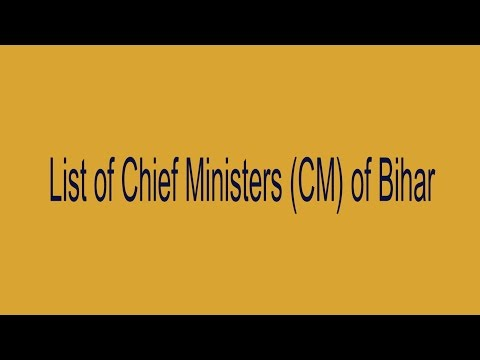 Chief Ministers of Bihar 2 April 1946 To 2015
