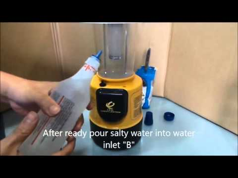 Salt Water Powered Lamp