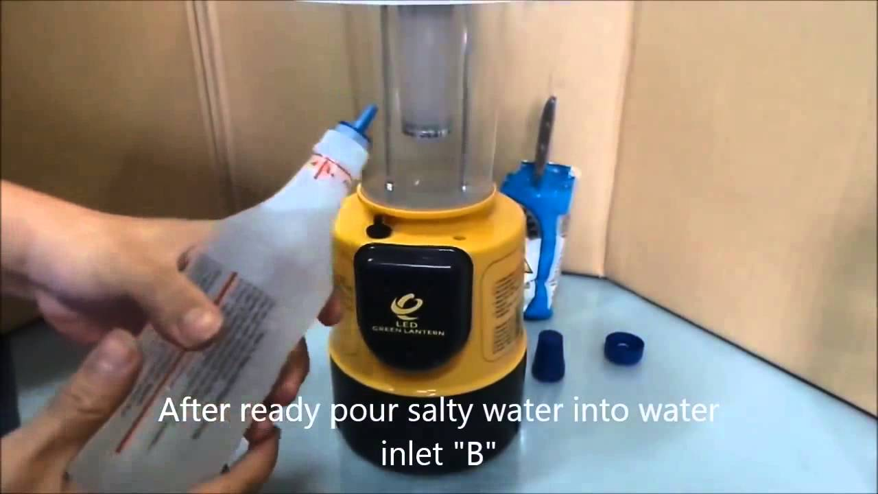 Salt Water Powered Lamp - YouTube for Salt Water Lamp  110ylc