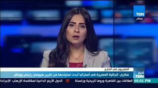 أخبار TeN - مكرم: الجالية المصرية في أستراليا أبدت استياءها من تقرير هيومان رايتس ووتش