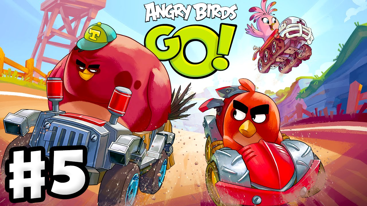 Angry Birds Go! 2.0! Gameplay Walkthrough Part 5 - Terence Race! 3 ...