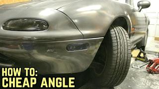 STEERING RACK SPACERS = MORE ANGLE! : MX-5 Miata NA Drift Build Ep.3