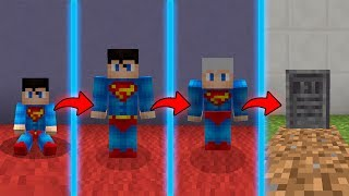 SE CICLO DE VIDA NO MINECRAFT DO SUPERMAN REALMENTE EXISTISSE (NASÇA UM SUPERMAN,MORRA VELHINHO)