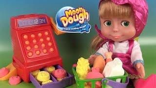 Moon Dough Pâte à modeler Supermarché Grocery Store Playset avec Masha en caissière