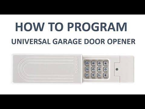 How To Program The Universal Chamberlain Group Clicker Keyless Entry Garage Door Opener Youtube