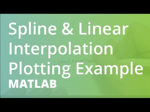 MATLAB: Spline & Linear Interpolation Plotting Example