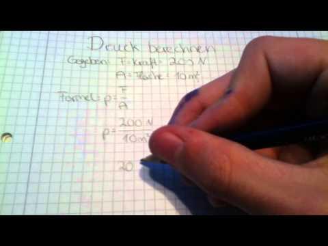 Druck berechnen lernen - Physik Anleitung