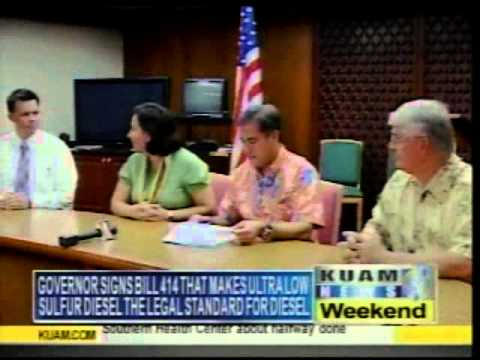 KUAM 10/28 Newscast clip of ULSD signing