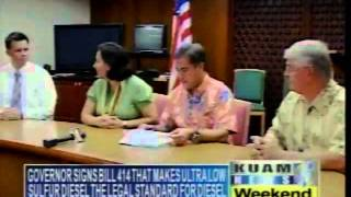 KUAM 10/28 Newscast clip of ULSD signing