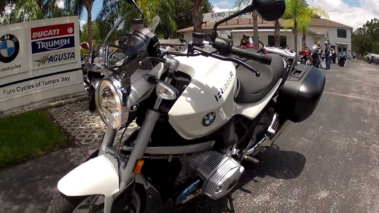 2010 BMW R1200R White at Euro Cycles of Tampa Bay - YouTube