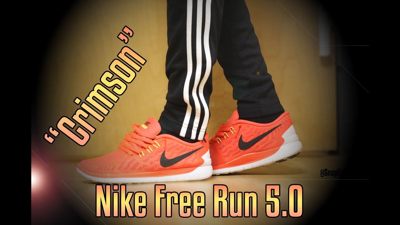 nike free run 5.0 crimson