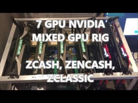 7 GPU MIXED Nvidia Mining Rig