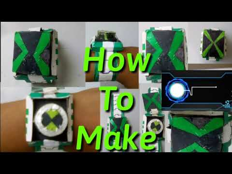 How to make Ben10 Omnivers Omnitrix with paper