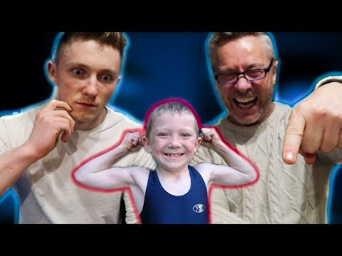 REACTING TO MY OLD GYMNASTICS 'WITH MY DAD'!