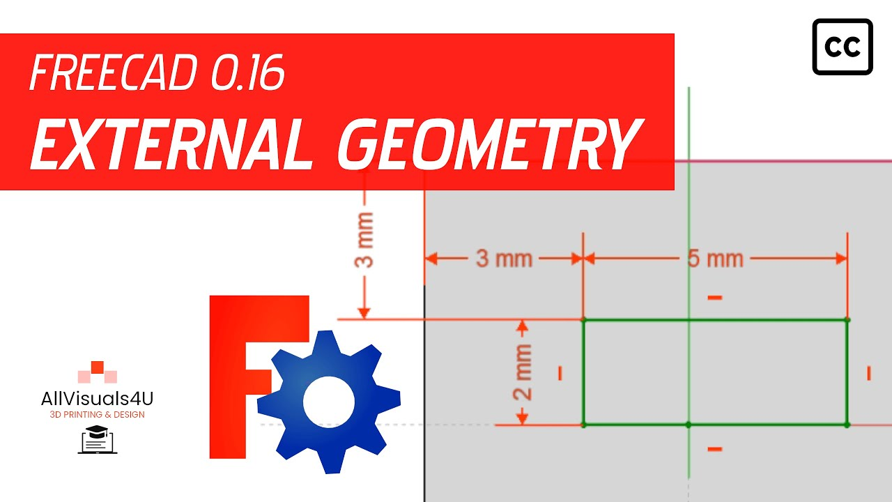 FreeCAD Tutorial - General #8 - How to constrain sketch lines to external  geometry