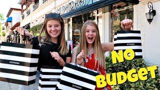 No Budget at Sephora with Mom's Credit Card || Taylor & Vanessa
