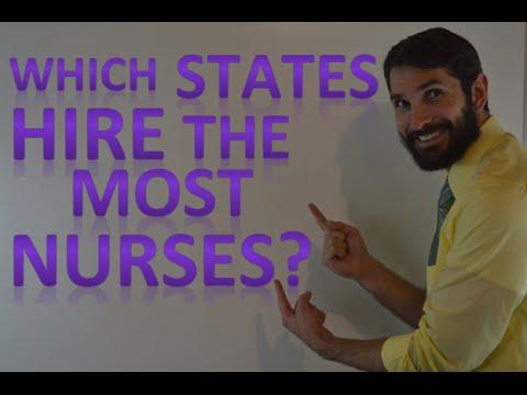 Which States Hire the Most Nurses (RNs)?   Nurse Employment Statistics