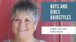 Short Hairstyles Over 50 For Women With Fine And Thin Hair Youtube