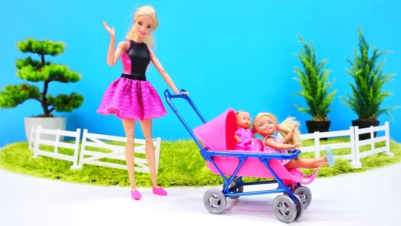 Barbie Baby Doll Videos A Stroller For A Baby Doll Youtube