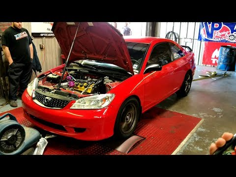 Turbo 2004 Civic EM2 on the Dyno