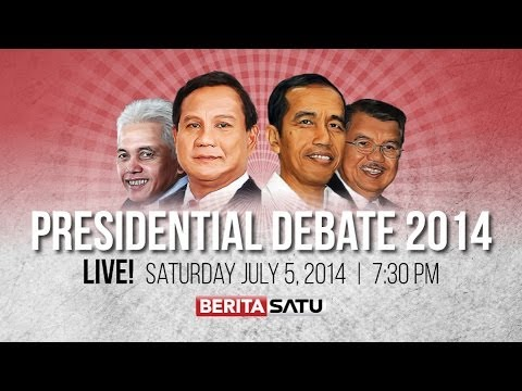 Indonesia Presidential Debate 5: Food Security, Energy, Environmental Issues